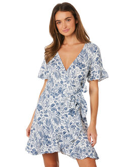 BLUE WOMENS CLOTHING TIGERLILY DRESSES - T391440BLU