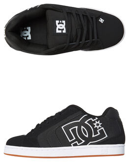 BLACK HERRINGBONE MENS FOOTWEAR DC SHOES SNEAKERS - 302297KHB
