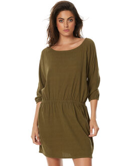 KHAKI WOMENS CLOTHING ZULU AND ZEPHYR DRESSES - ZZ1791KHK