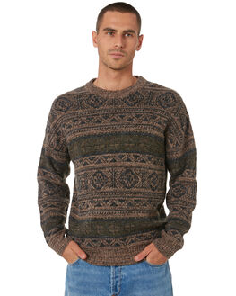 BROWN MARLE MENS CLOTHING WRANGLER KNITS + CARDIGANS - W-901807-NY2