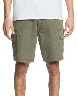 DEEP LICHEN GREEN MENS CLOTHING QUIKSILVER SHORTS - EQMWS03112-TPC0