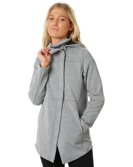 GREY HEATHER WOMENS CLOTHING HURLEY JACKETS - 941329050