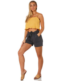CHARCOAL WOMENS CLOTHING RHYTHM SHORTS - JUL19W-WS03CHAR