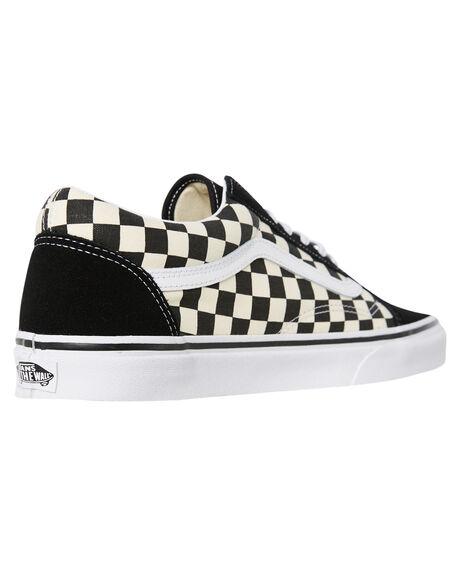 BLACK WHITE CHECKERBOARD WOMENS FOOTWEAR VANS SNEAKERS - SSVNA38G1P0SCHCKW
