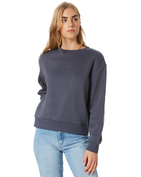 WASHED NAVY WOMENS CLOTHING NUDE LUCY JUMPERS - NU24112WNVY