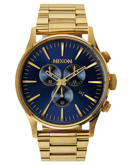 GOLD BLUE SUNRAY MENS ACCESSORIES NIXON WATCHES - A3861922