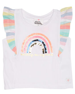 WHITE KIDS TODDLER GIRLS EVES SISTER TOPS - 8021045WHT
