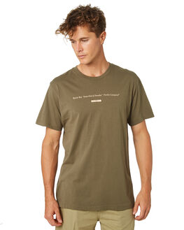 ARMY GREEN MENS CLOTHING THRILLS TEES - TR8-102FARMGN