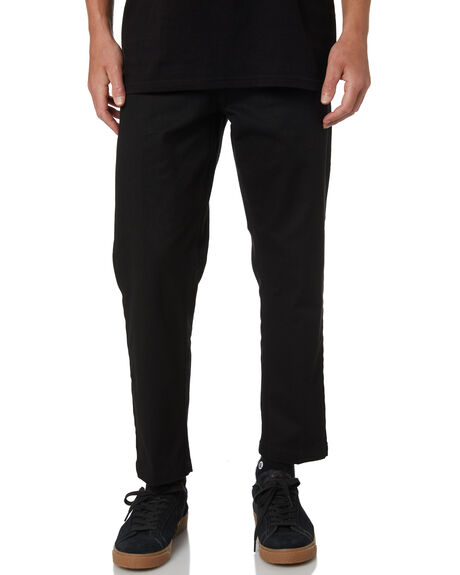 BLACK MENS CLOTHING OBEY PANTS - 142020113BLK
