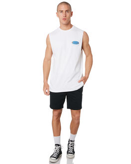 WHITE OUTLET MENS LOWER SINGLETS - LO19Q3MSI01WHT