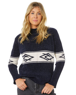 NAVY WOMENS CLOTHING RIP CURL KNITS + CARDIGANS - GSWHP10049