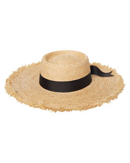 NATURAL WOMENS ACCESSORIES LACK OF COLOR HEADWEAR - RAFFIA1NAT