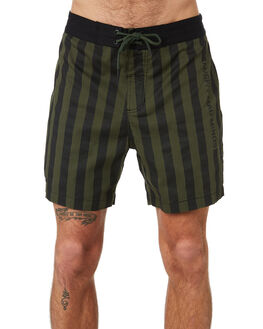RIFLE GREEN BLACK OUTLET MENS MISFIT BOARDSHORTS - MT091609RIFGN