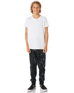 BLACK MARBLE KIDS BOYS ALPHABET SOUP PANTS - AS-KFA8379BBLKM