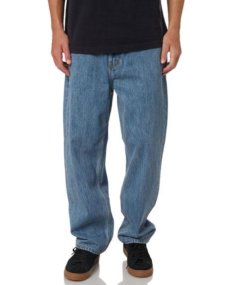 LIGHT INDIGO MENS CLOTHING OBEY JEANS - 142010063LINDI