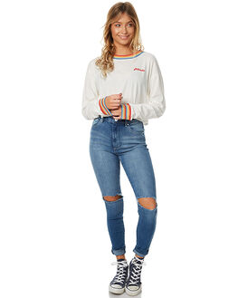 LOVEFOOL BLUE WOMENS CLOTHING A.BRAND JEANS - 70718-2246