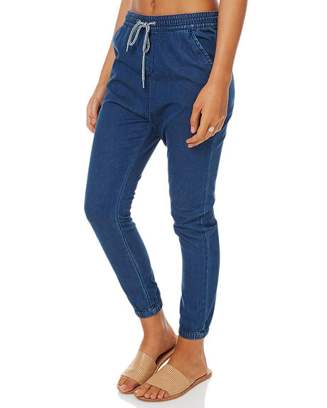 DARK BLUE WOMENS CLOTHING ROXY PANTS - ERJDP03129BTNW