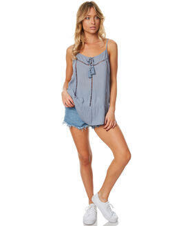 LIGHT BLUE WOMENS CLOTHING RIP CURL FASHION TOPS - GSHDA11080