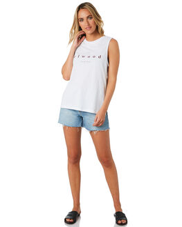 WHITE WOMENS CLOTHING ELWOOD SINGLETS - W01001WHITE