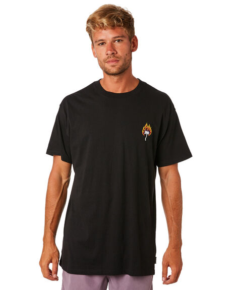 BLACK MENS CLOTHING BILLABONG TEES - 9595026BLK