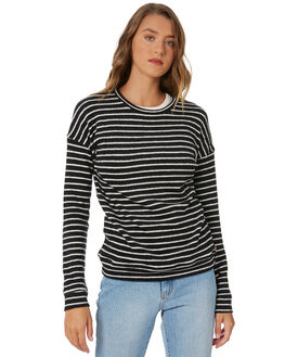 BLACK WHITE WOMENS CLOTHING VOLCOM JUMPERS - B3131900BWH