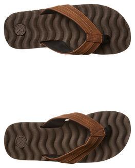 CHOC BROWN MENS FOOTWEAR KUSTOM THONGS - 4936205LCHOC