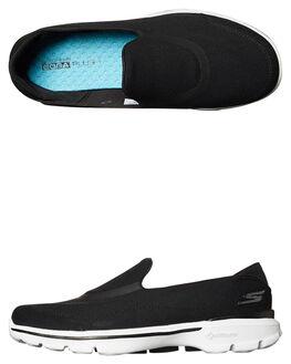 BLACK WHITE WOMENS FOOTWEAR SKECHERS SNEAKERS - 14070BKW