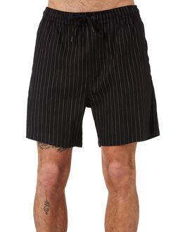 WASHED BLACK MENS CLOTHING MISFIT SHORTS - MT091602WSBLK