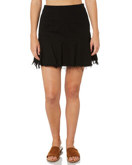 BLACK WOMENS CLOTHING BILLABONG SKIRTS - 6595530BLK
