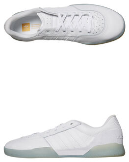WHITE WHITE MENS FOOTWEAR ADIDAS ORIGINALS SKATE SHOES - CG5635WHI