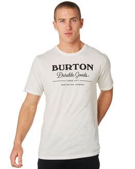STOUT WHITE MENS CLOTHING BURTON TEES - 20382100100STWHT