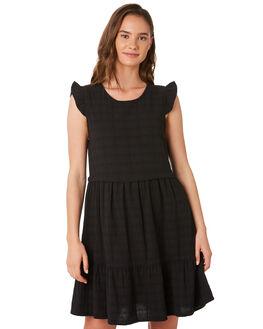 BLACK WOMENS CLOTHING RHYTHM DRESSES - JAN20W-DR08BLK