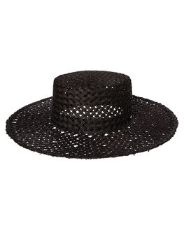 BLACK WOMENS ACCESSORIES RUSTY HEADWEAR - HHL0496BLK