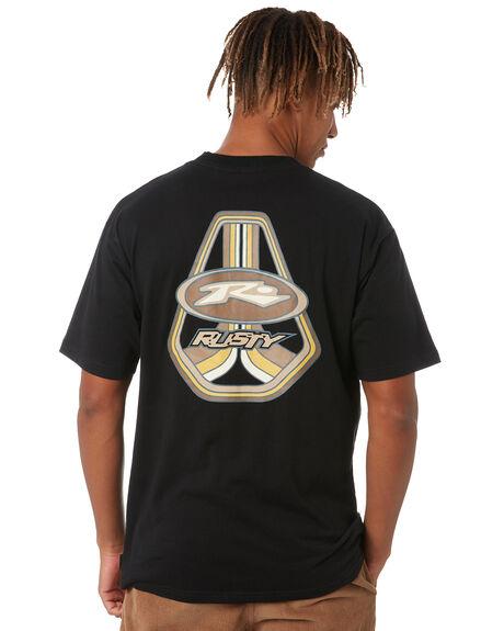 BLACK MENS CLOTHING RUSTY TEES - TTM2648BLK