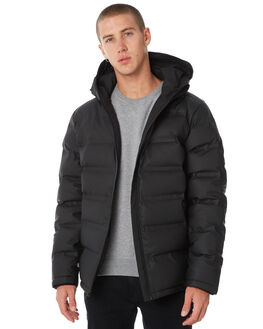 BLACK MENS CLOTHING HUFFER JACKETS - MDJA81S1301BLK