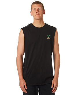 BLACK MENS CLOTHING SWELL SINGLETS - S5184276BLACK