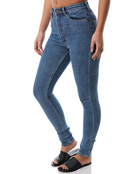 VINTAGE BLUE WOMENS CLOTHING THRILLS JEANS - WTDP-404VEVNTBL