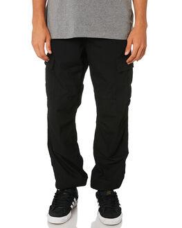 BLACK MENS CLOTHING CARHARTT PANTS - I015875-89BLK