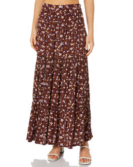 STEVIE FLORAL BRANDY WOMENS CLOTHING RUE STIIC SKIRTS - SW-20-59-3SFBVR