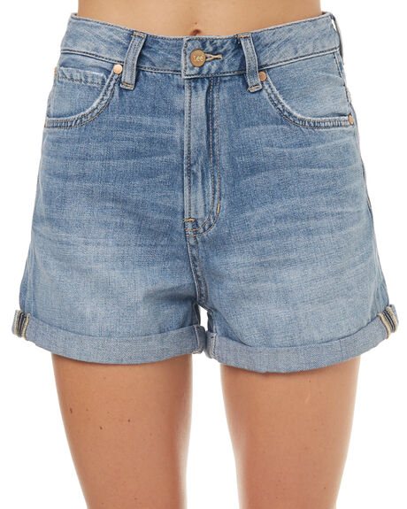 BLUE MIST WOMENS CLOTHING LEE SHORTS - L-656300R31