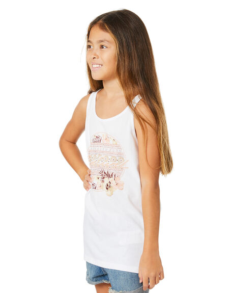 WHITE KIDS GIRLS RIP CURL TOPS - JTEEV11000