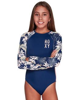 MED BLUE FULL FLORAL KIDS GIRLS ROXY SWIMWEAR - ERGWR03122-BTE6
