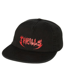 MERCH BLACK MENS ACCESSORIES THRILLS HEADWEAR - TS8-504MB
