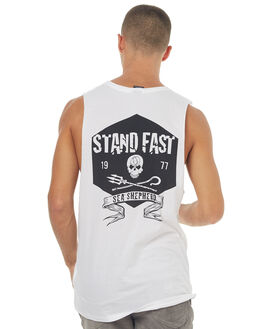 WHITE MENS CLOTHING SEA SHEPHERD SINGLETS - SSA835BWHT