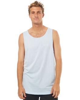 PALE BLUE MENS CLOTHING RPM SINGLETS - 7SMT09BPBLU