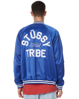 ROYAL BLUE MENS CLOTHING STUSSY JACKETS - ST076510RBLU