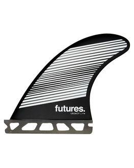 GREY BLACK BOARDSPORTS SURF FUTURE FINS FINS - 1140-160-50GRYBK