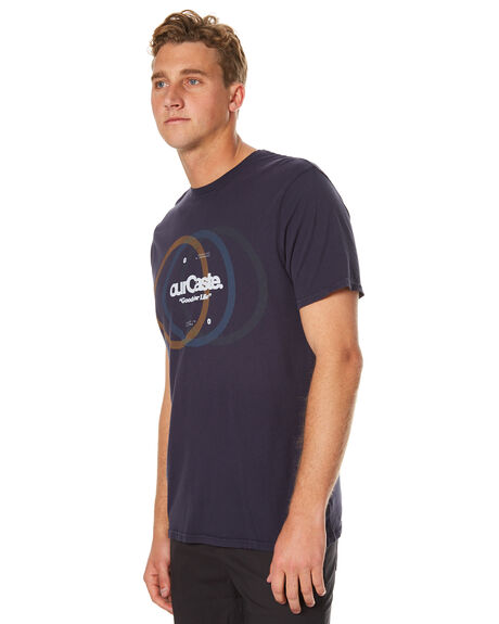 BLUE GREY MENS CLOTHING OURCASTE TEES - T1104BLGR