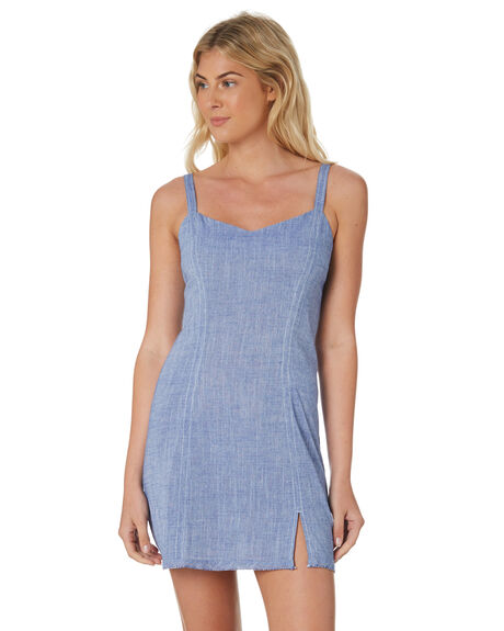 BLUE WOMENS CLOTHING NUDE LUCY DRESSES - NU23478BLU