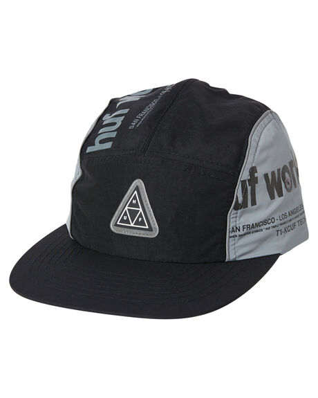 BLACK MENS ACCESSORIES HUF HEADWEAR - HT00445BLK